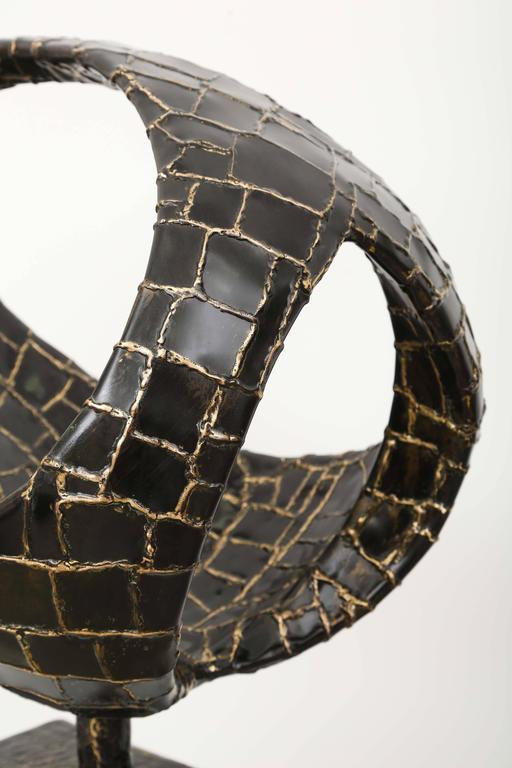 Abstract Ovoïde Bronze Sculpture by Jacques Duval-Brasseur 7