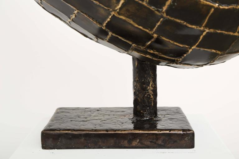 Abstract Ovoïde Bronze Sculpture by Jacques Duval-Brasseur 8