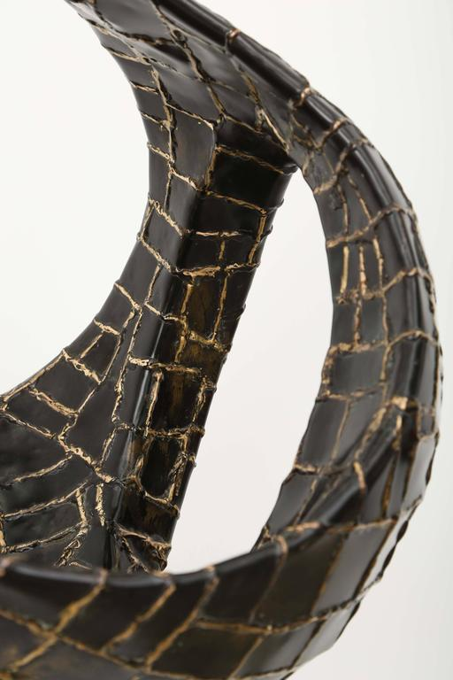 Abstract Ovoïde Bronze Sculpture by Jacques Duval-Brasseur 9