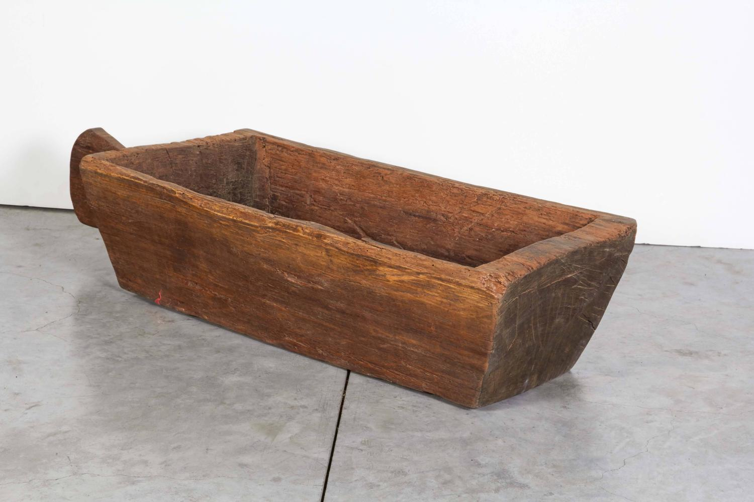 Large Thick Antique Wooden Primitive Tray For Sale At 1stdibs