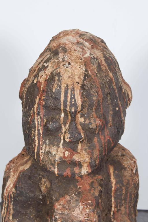 West african stone shrine figure sculpture great patina