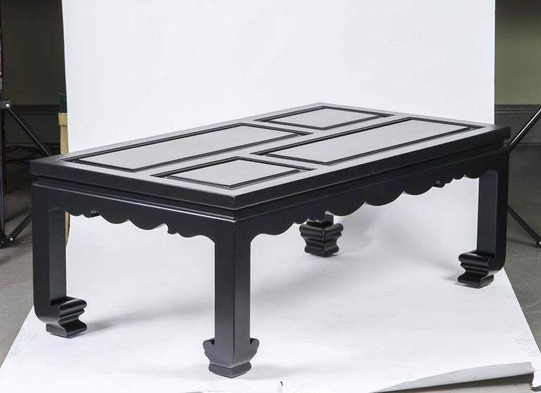 Hollyhock Ming Coffee Table Finished In F B Black Blue For Sale At 1stdibs