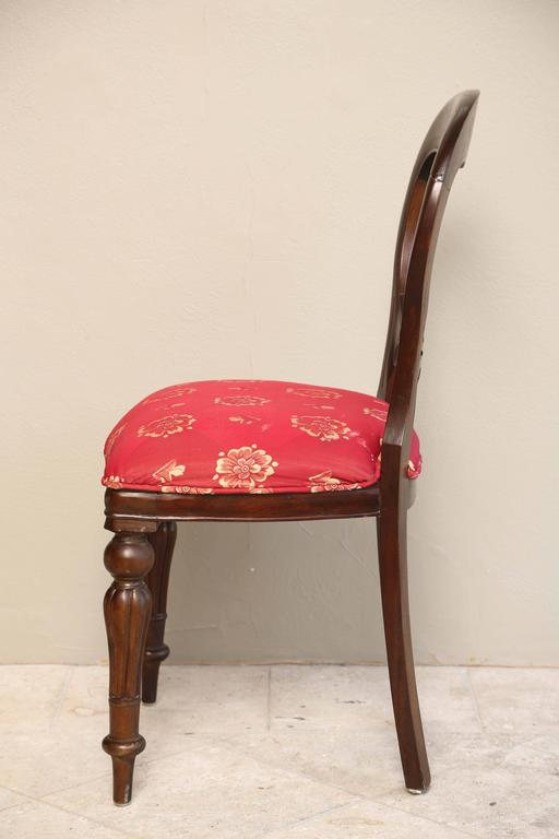 Set Of Six Regency Style Dining Room Chairs Mahogany With