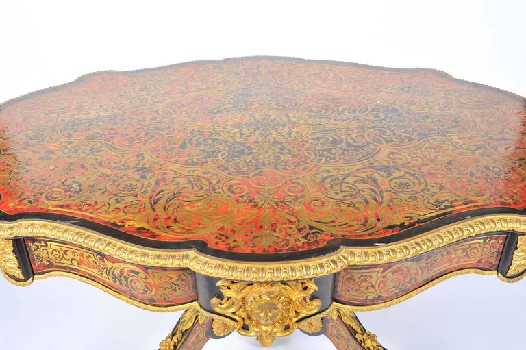19th Century Boulle Louis XVI style Inlaid Centre Table For Sale 1