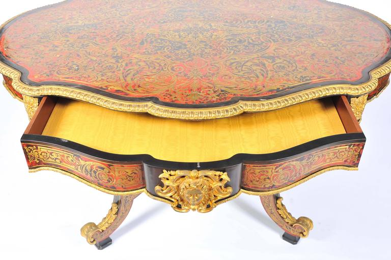 19th Century Boulle Louis XVI style Inlaid Centre Table For Sale 2