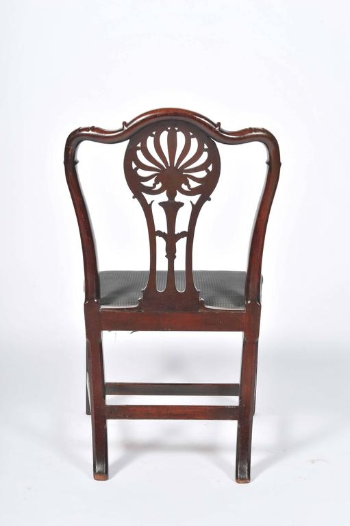 Pair of George III Mahogany Side Chairs For Sale 2