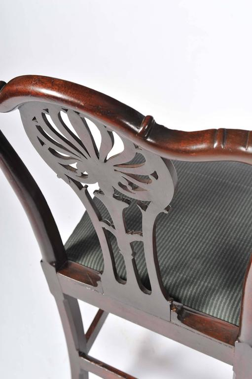 Pair of George III Mahogany Side Chairs For Sale 3