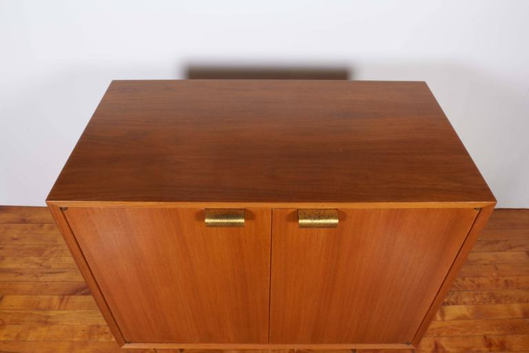Mid-Century Modern George Nelson Two-Door Walnut Cabinet for Herman Miller For Sale