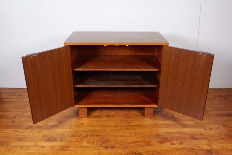 George Nelson Two-Door Walnut Cabinet for Herman Miller In Good Condition For Sale In New York, NY