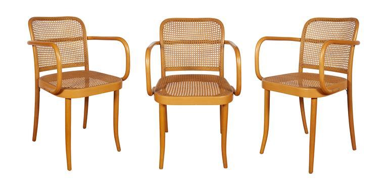 Set Of Eight Josef Hoffmann U0027Pragueu0027 Bentwood Chairs Imported By Stendig 2
