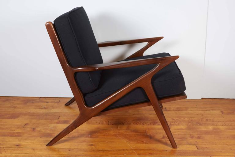 Poul jensen danish modern z chair for selig at 1stdibs for Poul jensen z chair