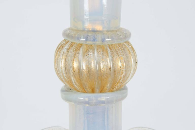 Seguso Murano Glass Handblown Opalescent Lamp In Good Condition For Sale In New York, NY