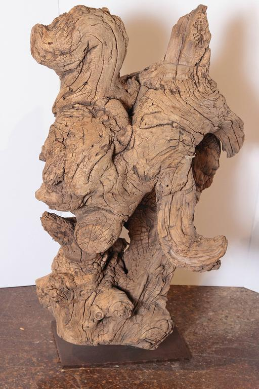 20th Century Organic Natural Driftwood Sculpture For Sale