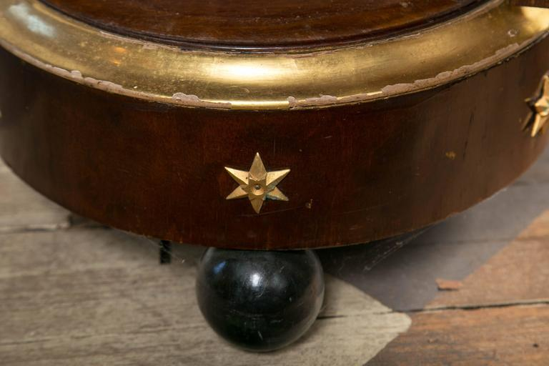 Mahogany and Gilt Period French Empire Po Table For Sale 2