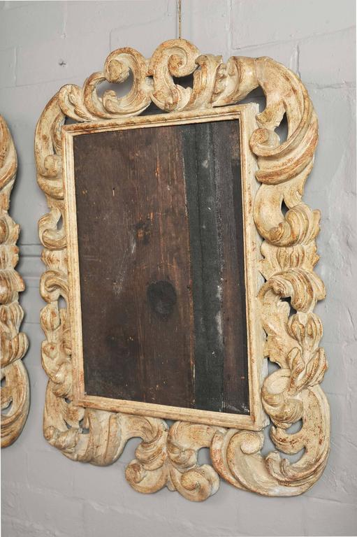 Pair of 17th Century Italian Baroque Carved Wood Frames, to Simulate ...