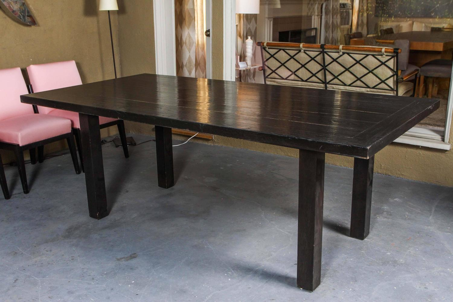 Indoor Outdoor Mid Century Dining Table And Chairs For Sale At 1stdibs