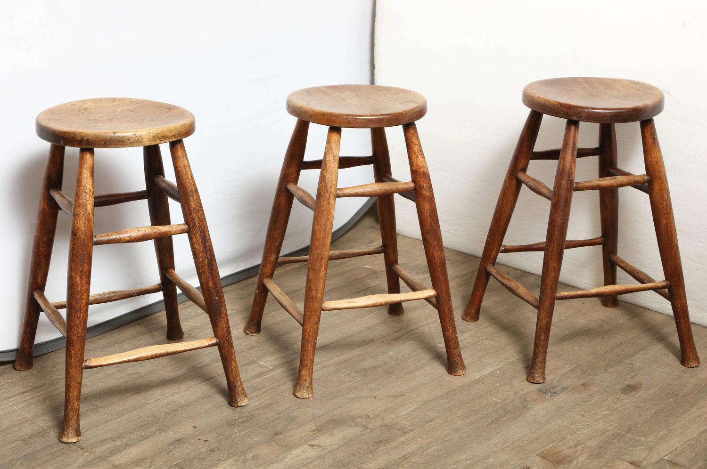 Set of three matching kitchen stools at 1stdibs for Matching kitchen sets
