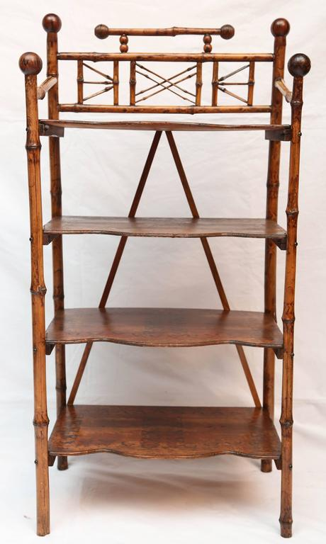 19th Century English Bamboo Book Stand 2