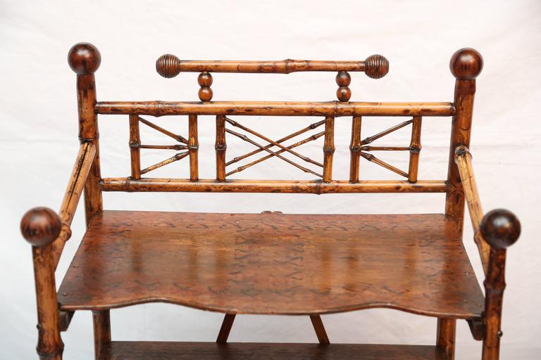 19th Century English Bamboo Book Stand 3
