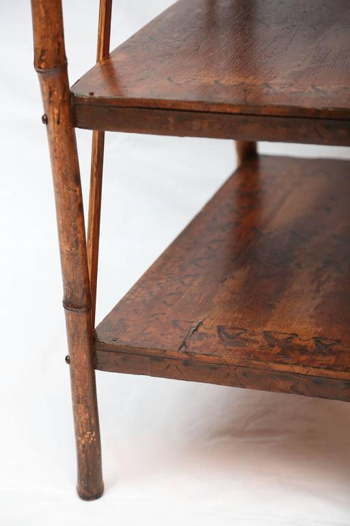 19th Century English Bamboo Book Stand 5