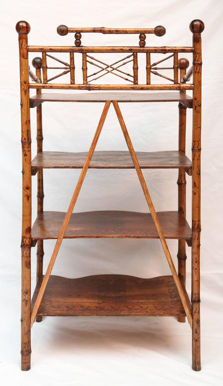 19th Century English Bamboo Book Stand 6