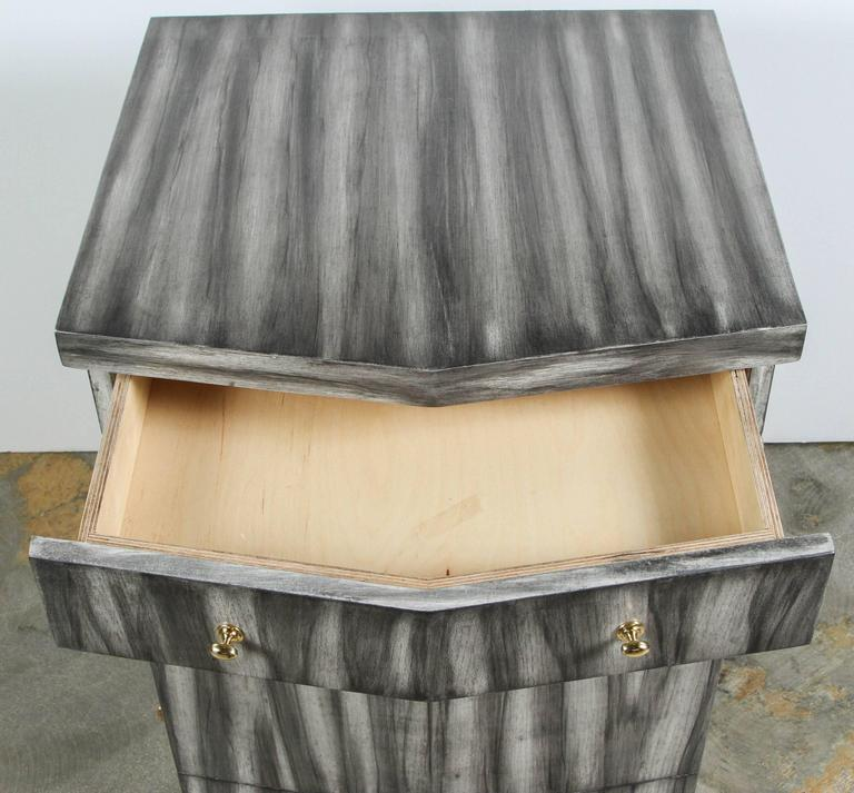 Paul Marra Pinnacle Nightstand in Gray Zebra Finish 7