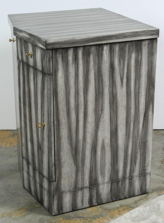 Paul Marra Pinnacle Nightstand in Gray Zebra Finish 9