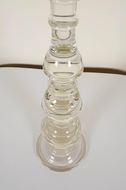 Contemporary Pair of Seguso Handblown Glass Candlesticks by Lucio Romero For Sale