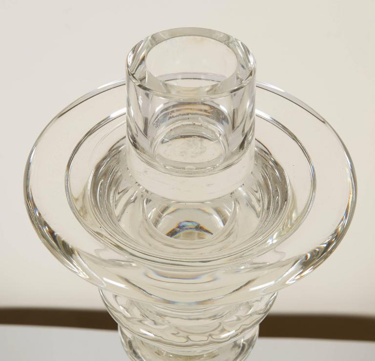 Murano Glass Pair of Seguso Handblown Glass Candlesticks by Lucio Romero For Sale