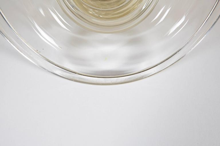 Pair of Seguso Handblown Glass Candlesticks by Lucio Romero For Sale 1
