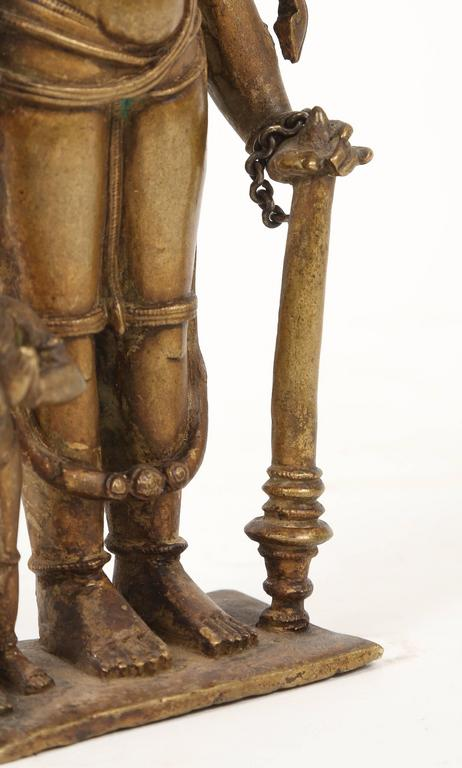Bronze Statuette of Lord Vishnu and the Goddess Lakshmi, Indian, 18th Century For Sale 2