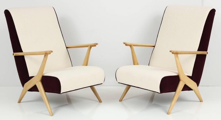 Carlo Mollino Attributed Armchairs 5