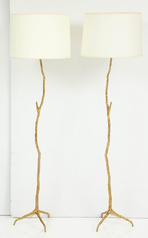 "Pair of Bronze Maison Arlus ""Twig"" Floor Lamps 9"