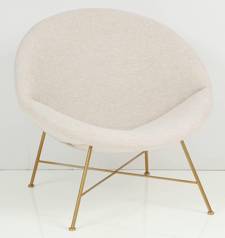 Mid-Century Modern Large Curved Chair For Sale