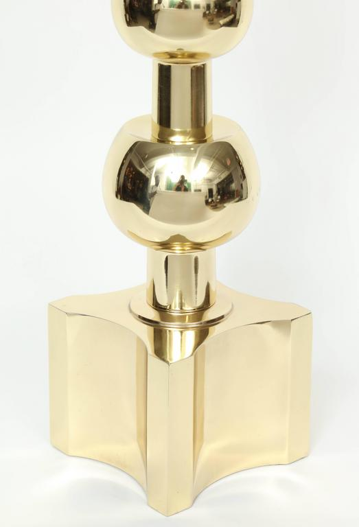 Parzinger Influenced Brass Table Lamps by Stiffel 7