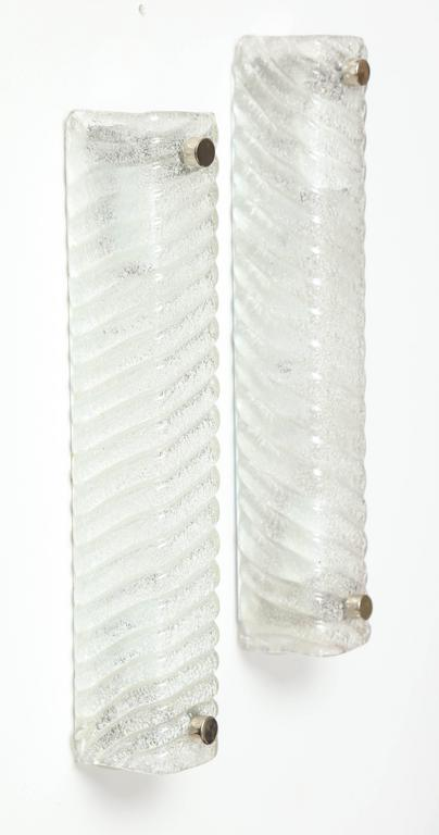 Murano Swirled Glass Rectangular Sconces 2