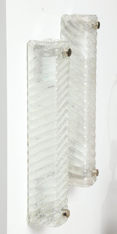 Murano Swirled Glass Rectangular Sconces 8