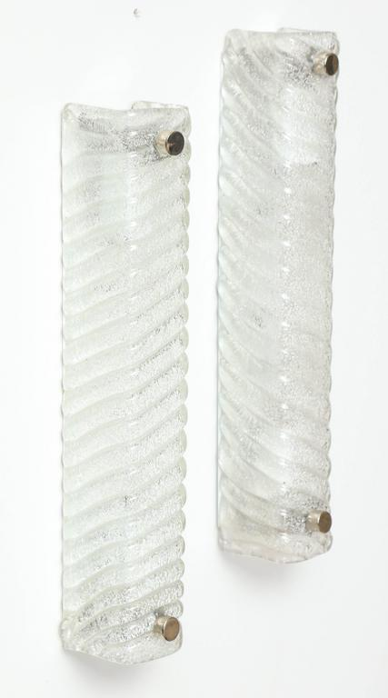 Murano Swirled Glass Rectangular Sconces 9