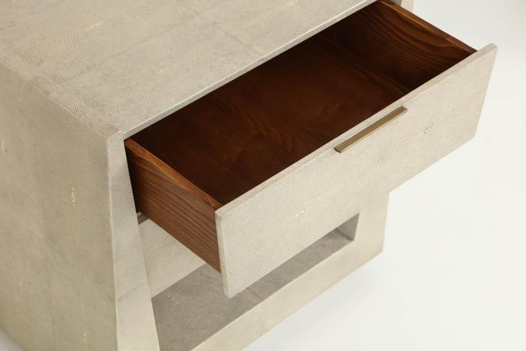 Shagreen Side Tables or Nightstands, France, Offered by Area ID 7