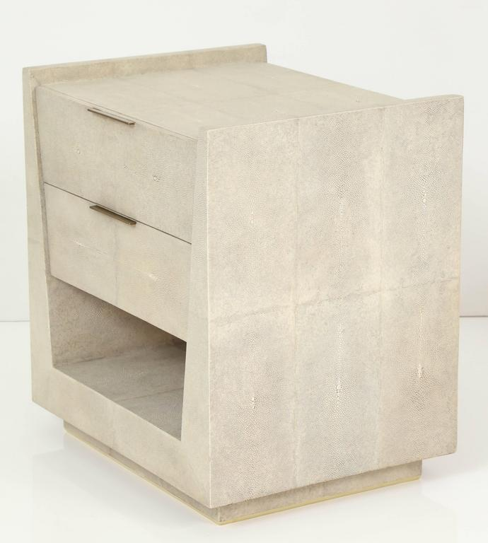 Shagreen Side Tables or Nightstands, France, Offered by Area ID 8