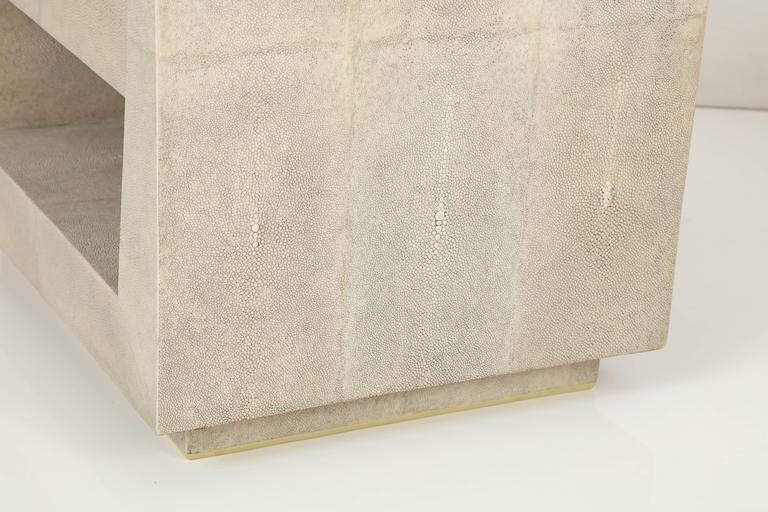 Shagreen Side Tables or Nightstands, France, Offered by Area ID 9