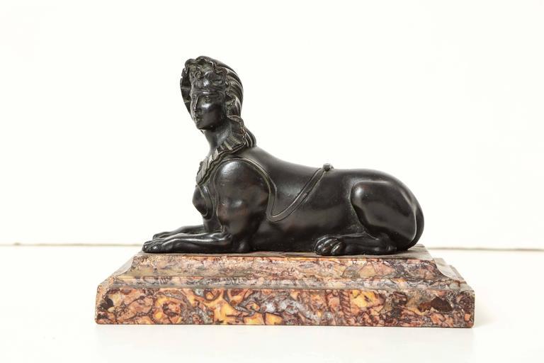 French Régence Bronze Sphinx, circa 1720 2
