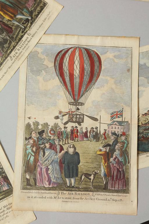 Early 19th Century Balloon Engravings 4