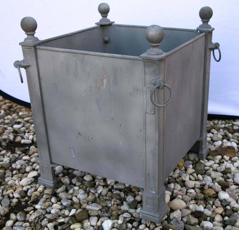 Contemporary Versaille Gray Planter Boxes For Sale