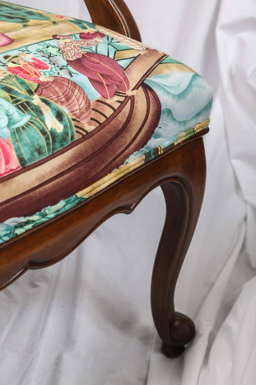 Pair of Chinoiserie Detailed Fauteuils 9