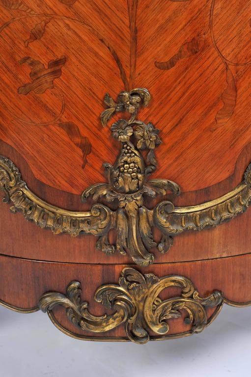 19th Century, French, Kingwood Marquetry Corner Cabinet In Good Condition For Sale In Brighton, Sussex