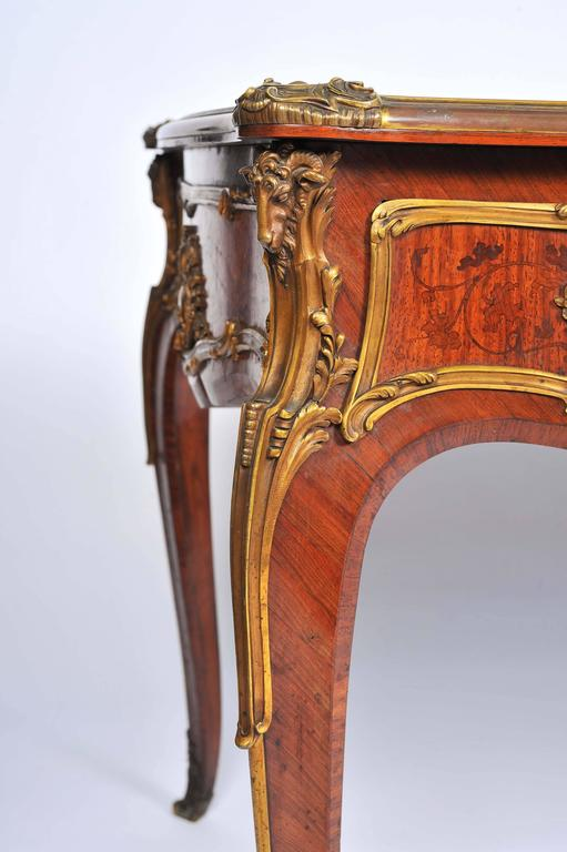 French Fine Louis XV Style Bureau Plat by Zweiner For Sale