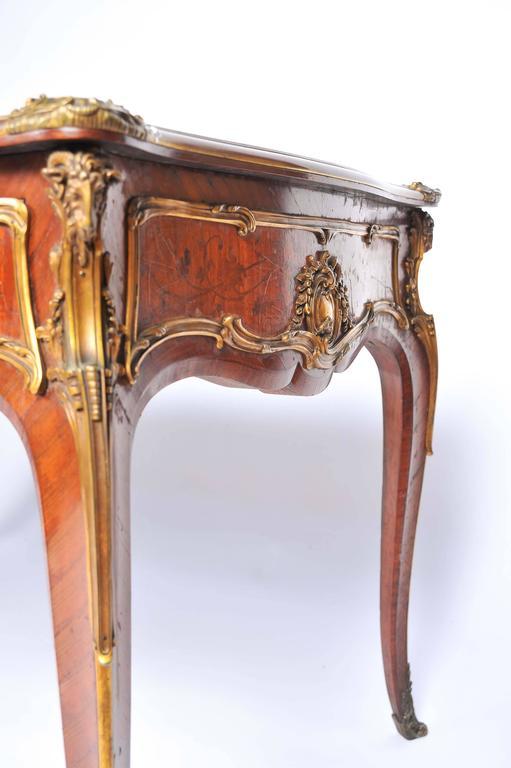 Ormolu Fine Louis XV Style Bureau Plat by Zweiner For Sale