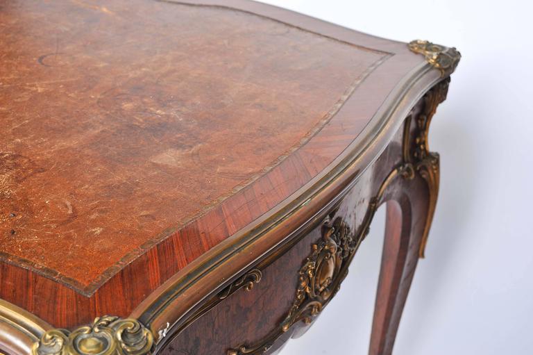 Fine Louis XV Style Bureau Plat by Zweiner For Sale 1