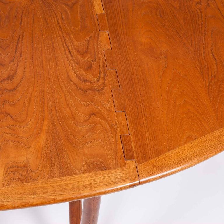Teak Drop-Leaf Dining Table by Designed by Kurt Østervig In Good Condition For Sale In London, GB